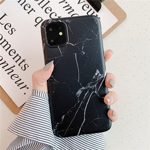 Rare Black Marble Case For iPhone 11 Pro/Pro Max