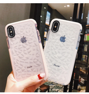 Tucked Jelly Fashionable Transparent Phone Case For iPhone X/Xs