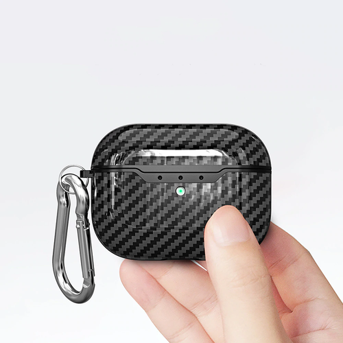 Intense Black Carbon Fibre Airpods Pro Case With Premium Silicone and Shock-Proof Design