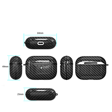 Load image into Gallery viewer, Intense Black Carbon Fibre Airpods Pro Case With Premium Silicone and Shock-Proof Design