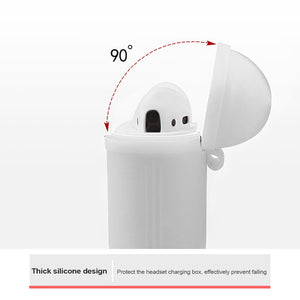 Soft White Airpods Case With Premium Silicone and Shock-Proof Design - bezzy-tech