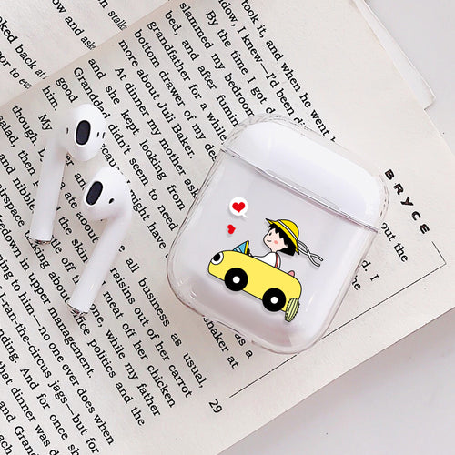 Cute Travel Girl Airpods Case With Fancy Design and Strong Build Quality - bezzy-tech