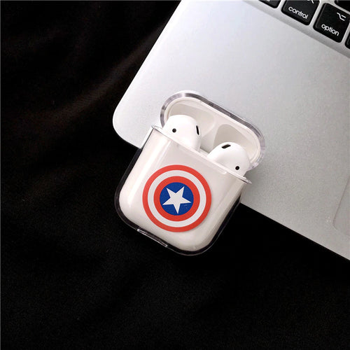 Captain America Airpods Case With Fancy Design and Strong Build Quality - bezzy-tech