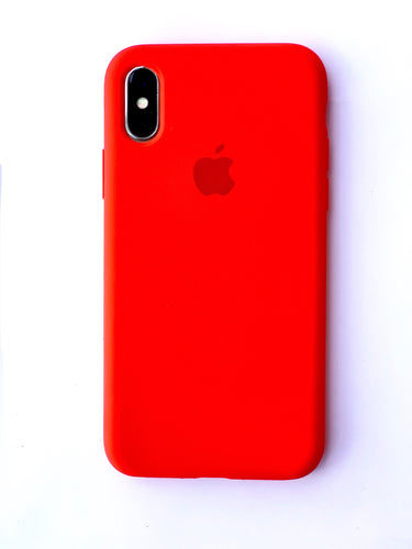 Lava Red Soft Silicone iPhone Protective Case - bezzy-tech