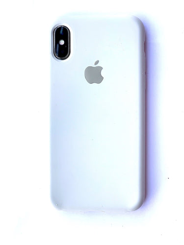 Offbeat White Soft Silicone iPhone Protective Case - bezzy-tech