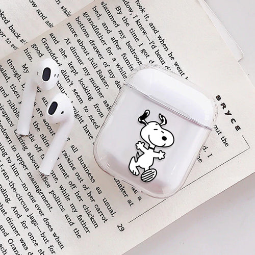 Snoopy Dog Airpods Case With Fancy Design and Strong Build Quality - bezzy-tech