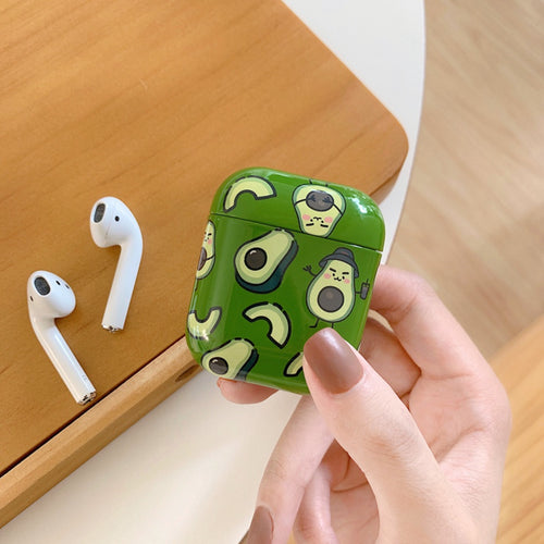 Delicious Avacado Marble Airpods Case With Fancy Design and Strong Build Quality