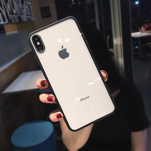 Shockproof Silicone Hard Bumper Transparent Phone Case For iPhone X/Xs