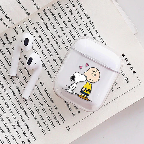 Snoopy Dog and Charles Airpods Case With Fancy Design and Strong Build Quality - bezzy-tech