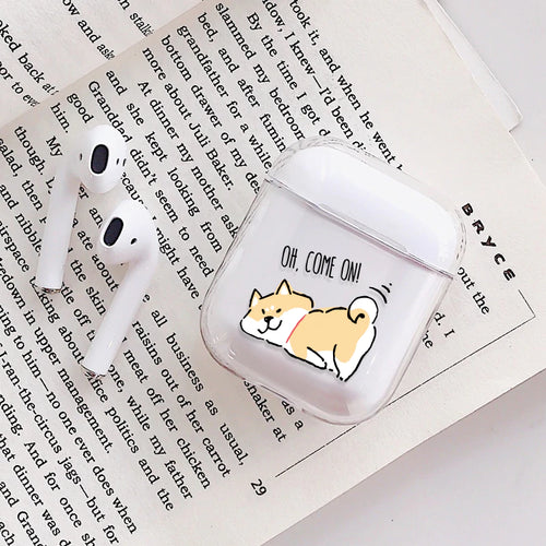 Flirty Shiba Inu Dog Airpods Case With Fancy Design and Strong Build Quality - bezzy-tech
