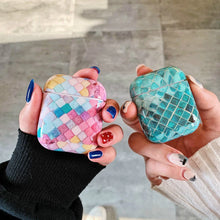 Load image into Gallery viewer, Smoky Green Patch Marble Airpods Case With Fancy Design and Strong Build Quality