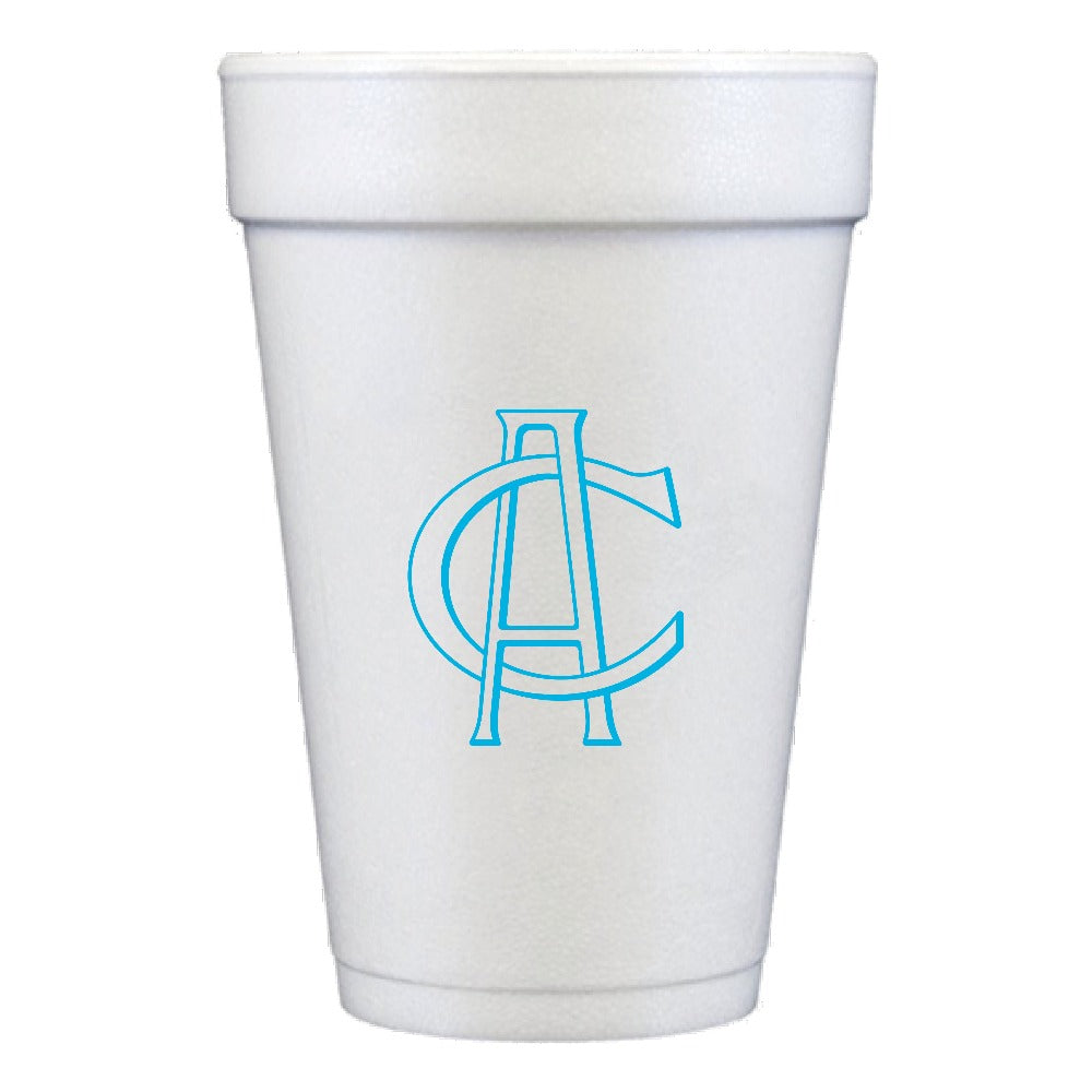 Personalized Styrofoam Cup Monogram Party