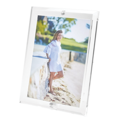 Acrylic Lucite Magnetic Photo Frame