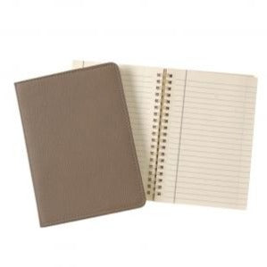 taupe tan brown leather notebook journal business monogram charlotte southern