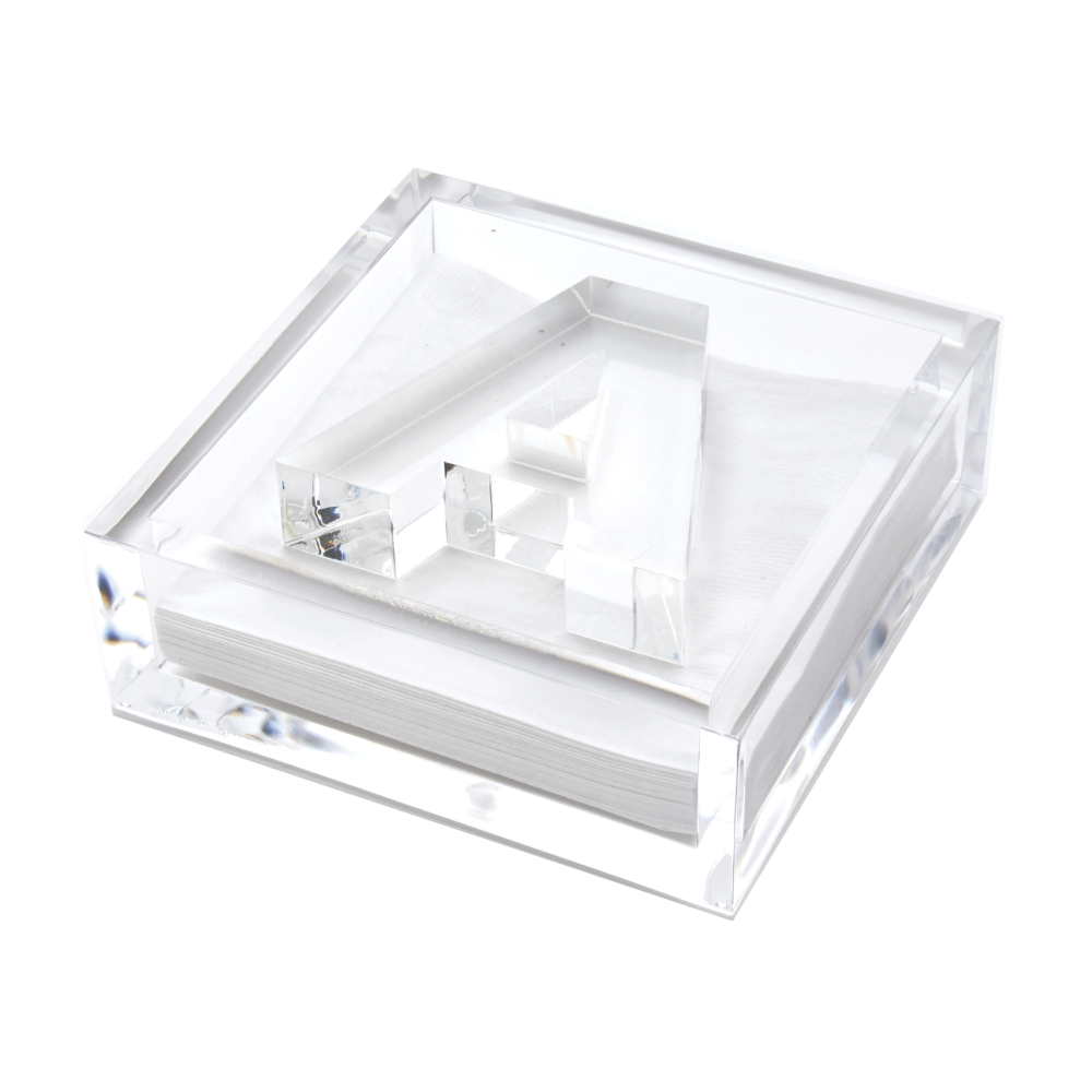 Acrylic Initial Napkin Holder