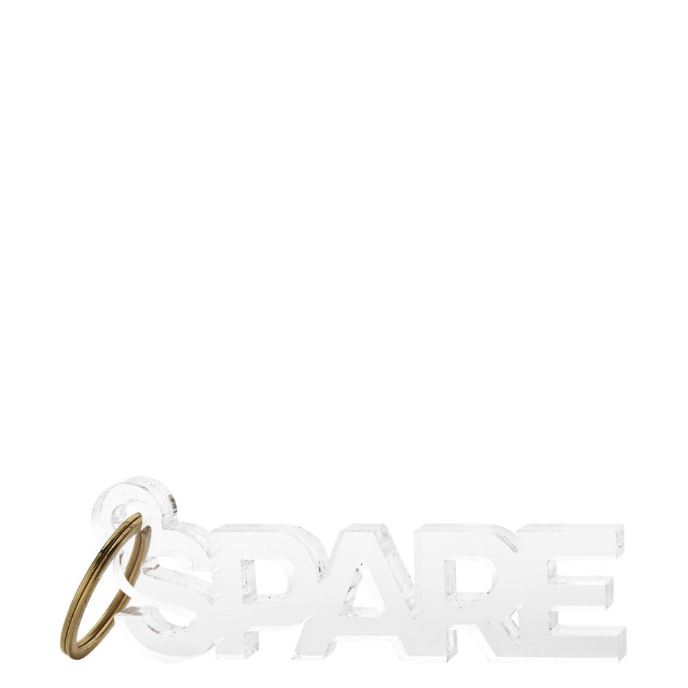 Lucite Key Ring Spare Paper Twist Charlotte