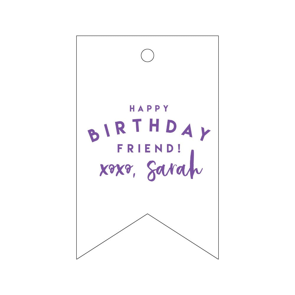 Letterpress Gift Tag Birthday 4