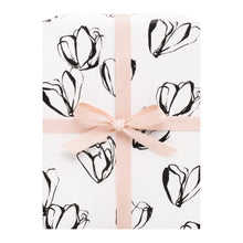 Load image into Gallery viewer, Gift Wrap Floral Black and White
