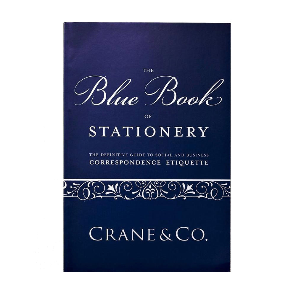 Crane Blue Book of Stationery Correspondence Etiquette