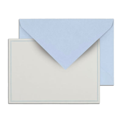 Baby Blue Notes Boxed Stationery Stationary Thank You Correspondence Shop Small Charlotte