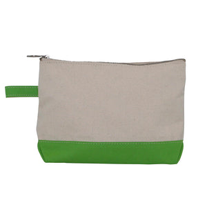 Canvas monogrammed zippered bag