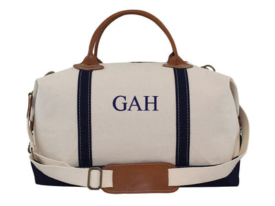 Canvas weekend monogrammed bag