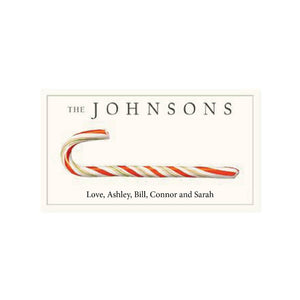 Custom Label Candy Cane