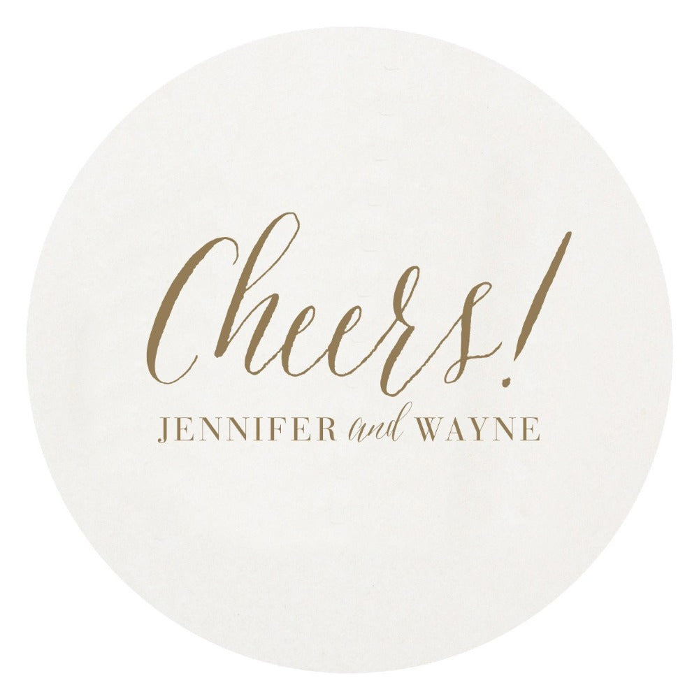 Cheers Letterpress Personalized Coaster Hostess Gifting New Home Realtor Gift Shop Small Local Charlotte