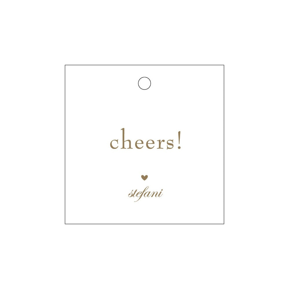 Letterpress Gift Tag Cheers 4