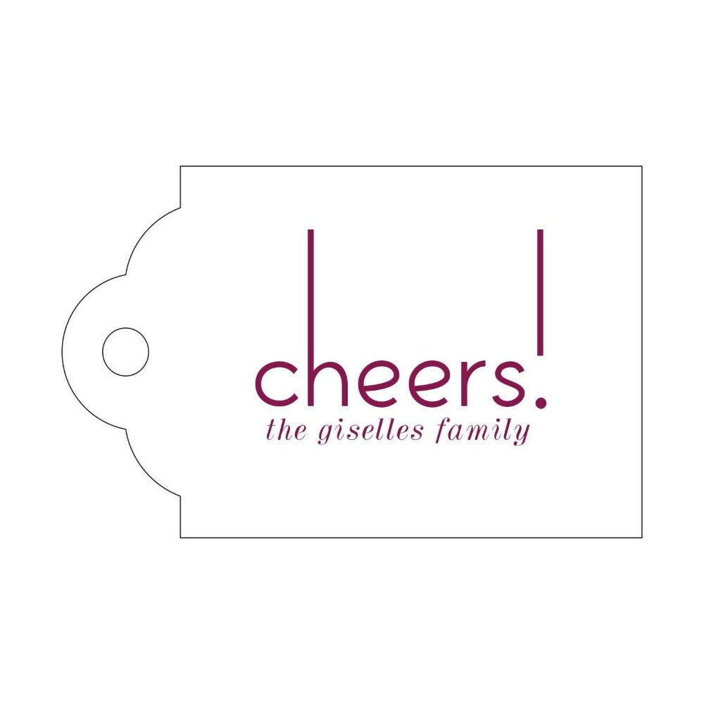Letterpress Gift Tag Cheers 7