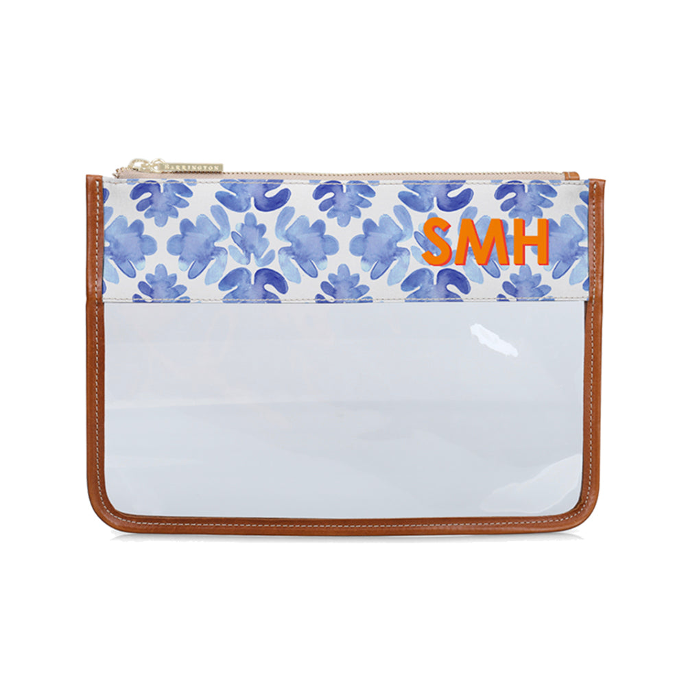 Clear Pouch Blue Tile