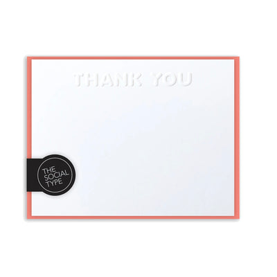 Coral thank you notes