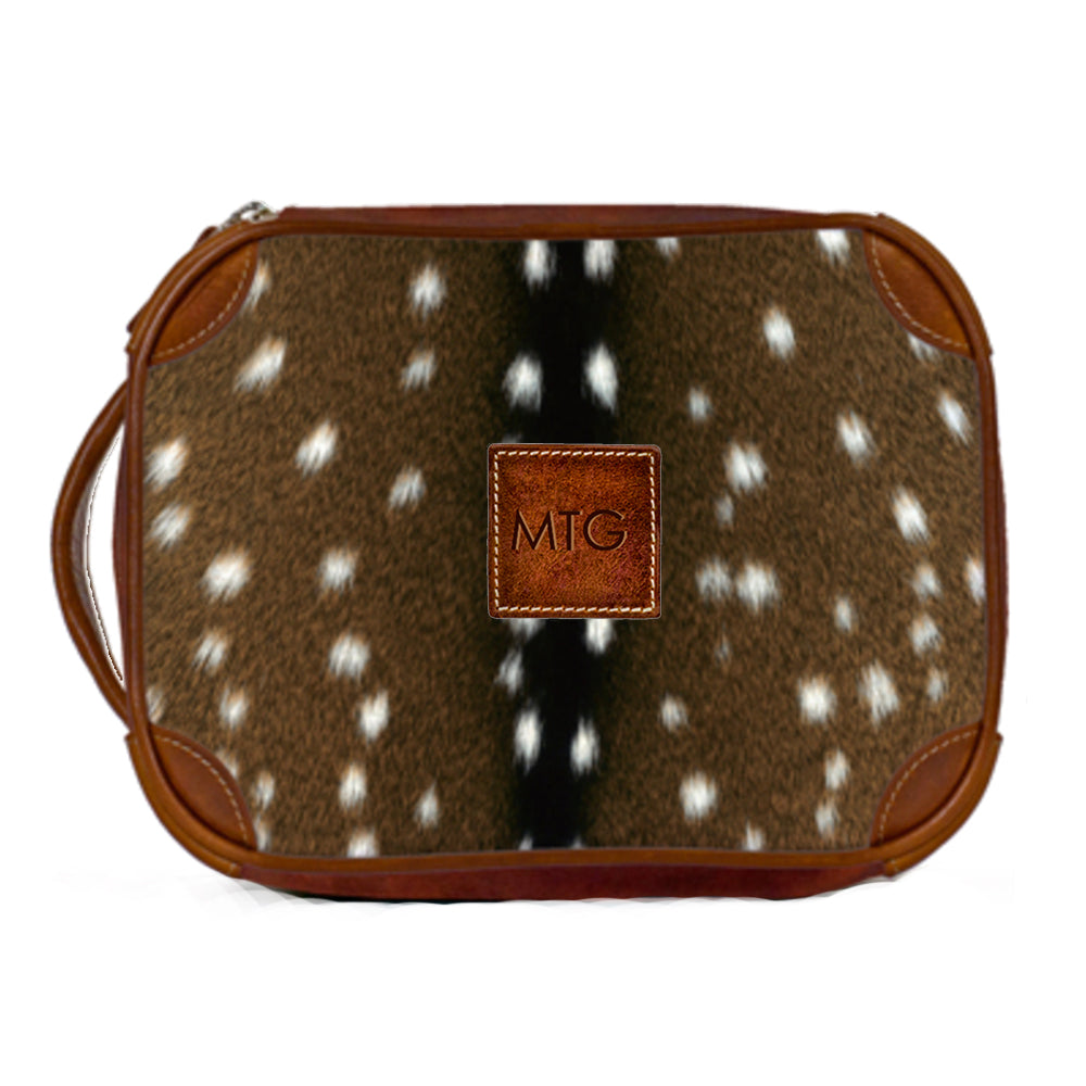 Leather Toiletry Cosmetic Zippered Case Personalized Gift Shop Small Local Dallas Charlotte