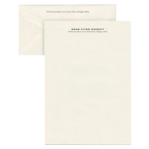 Custom lettersheet stationery. Business correspondence
