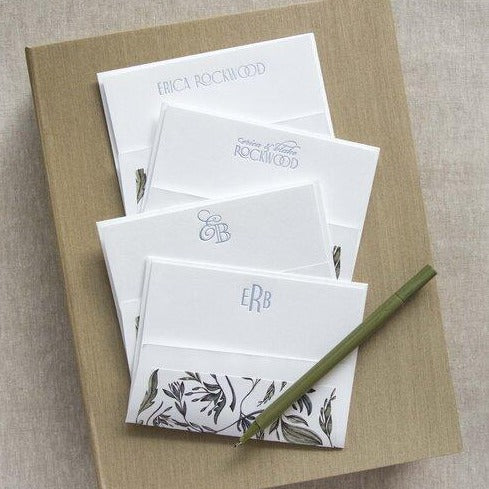 Letterpress Grand Silk Stationery 110