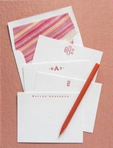 Letterpress Grand Silk Stationery 109
