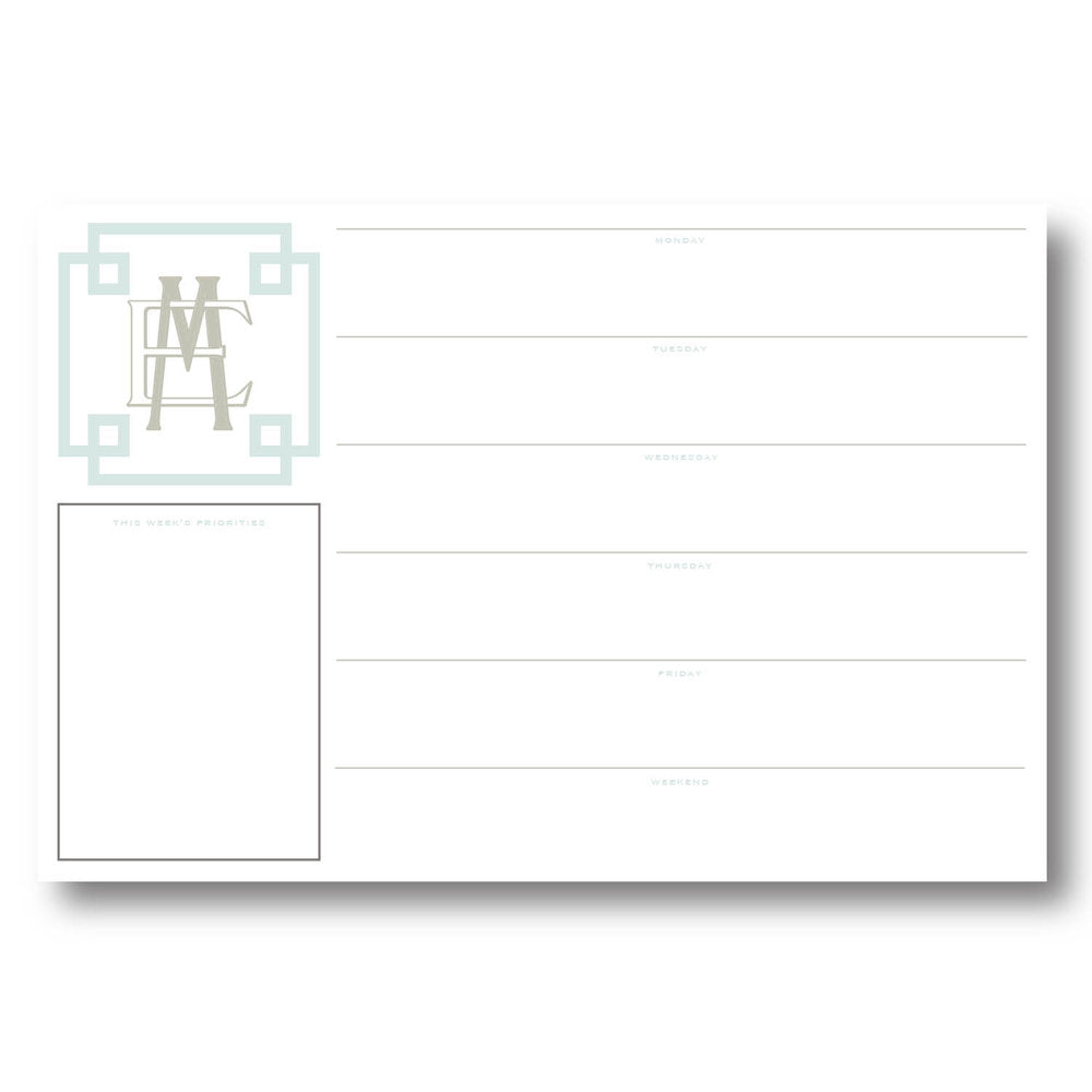Custom Weekly Desk Planner