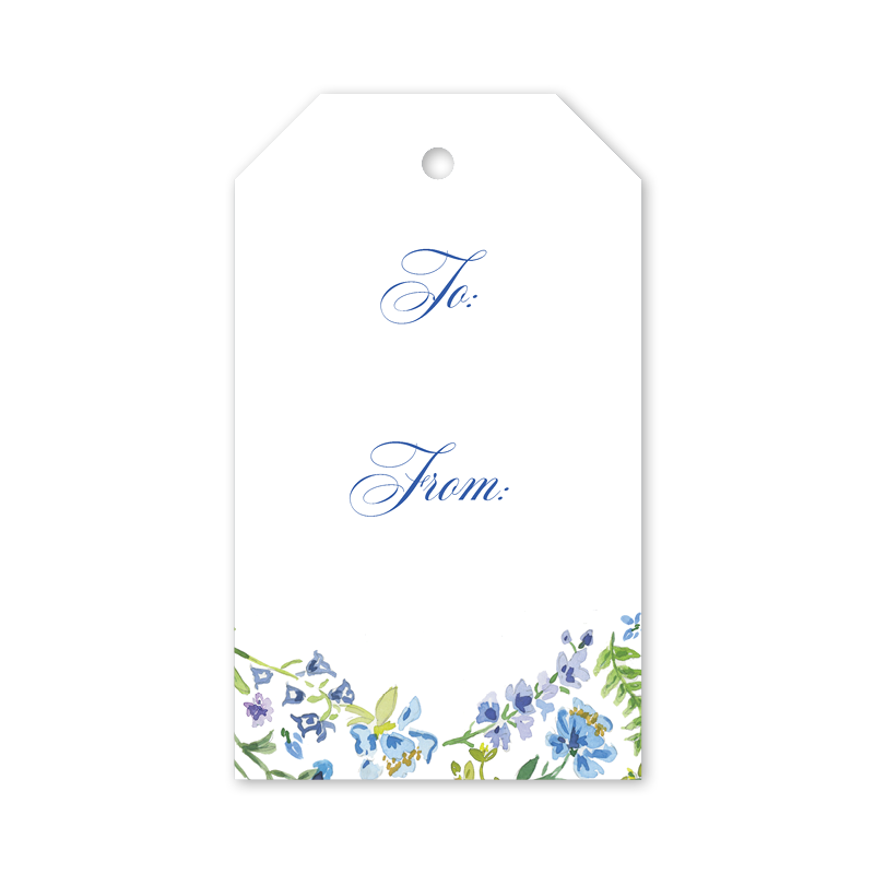 Gift Tags Blue Floral