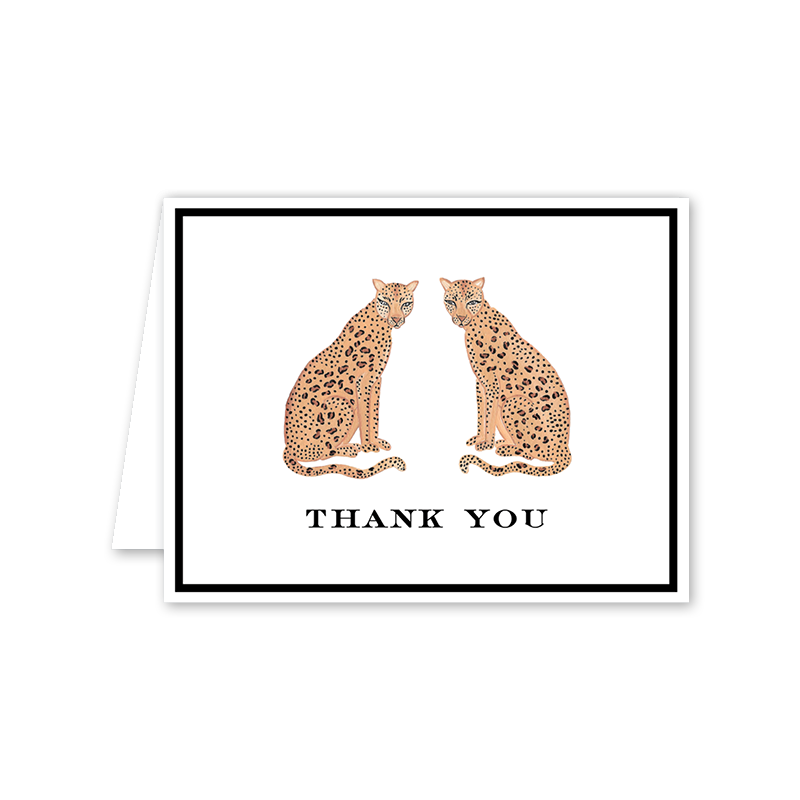 Leopard Thank You Folded Notecards