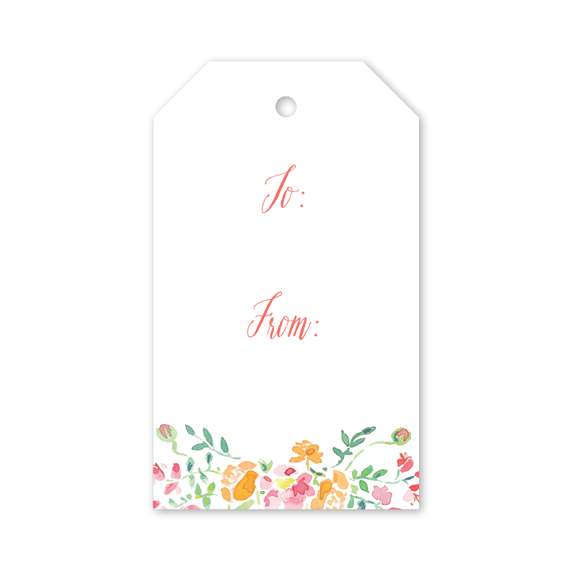 Pink Floral Gift Tag Dogwood Hill Dixie Design