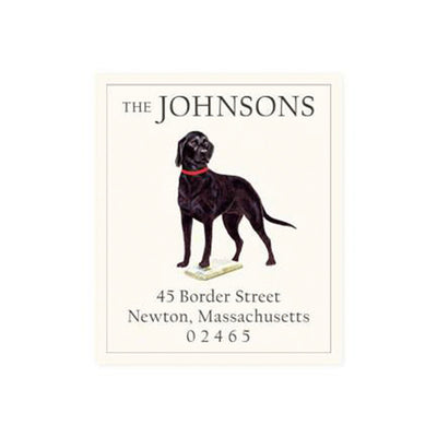 Custom Sticker Return Address Label Dog Retriever Charlotte papertwist desk gifts stationary