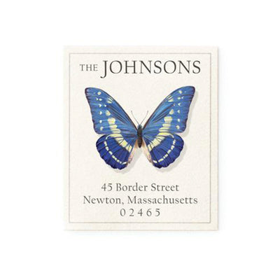 Return Address Label Butterfly