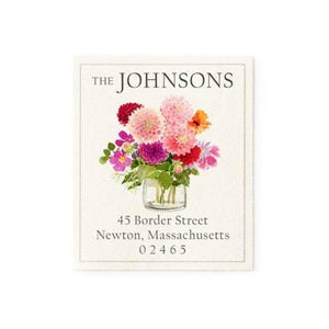 Return Address Labels Floral