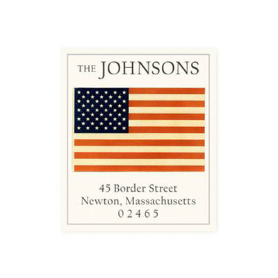 Return Address Label Patriotic