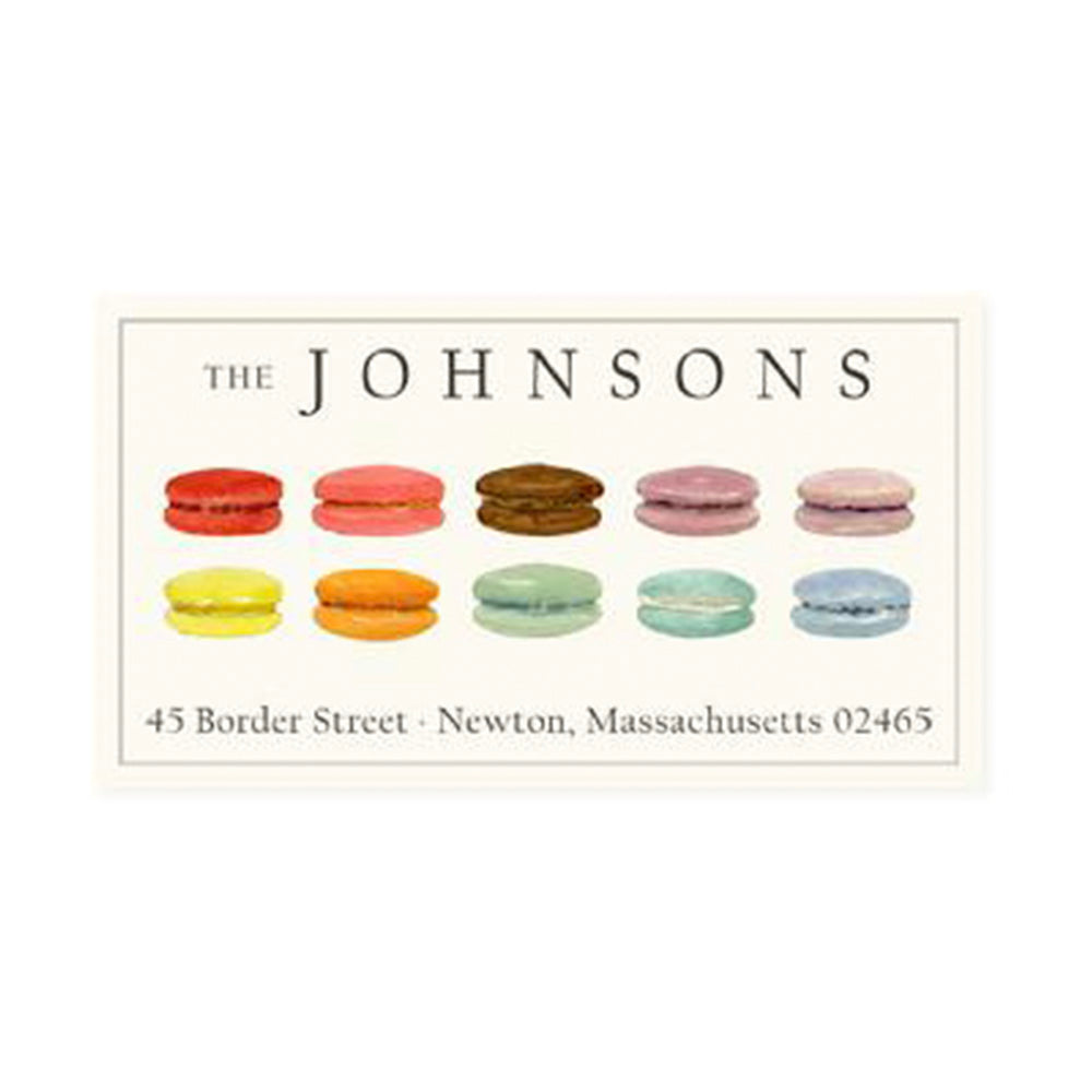 Return Address Panoramic Label Macarons