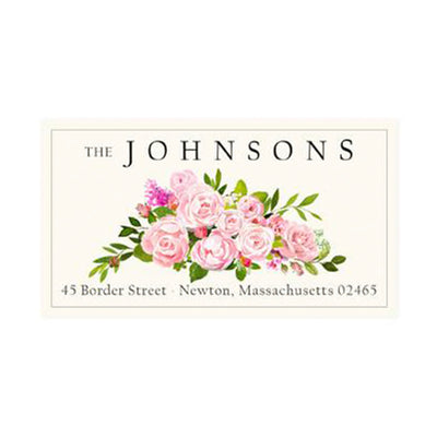 Return Address Panoramic Label Floral