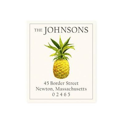 Return Address Label Pineapple