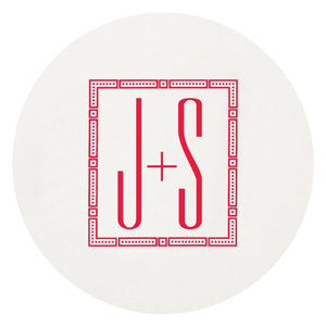 Letterpress Coaster Monogram 3