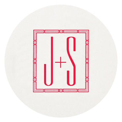Letterpress Family Initial Coaster Hostess Gifting Shop Small Local Realtor Gift Charlotte