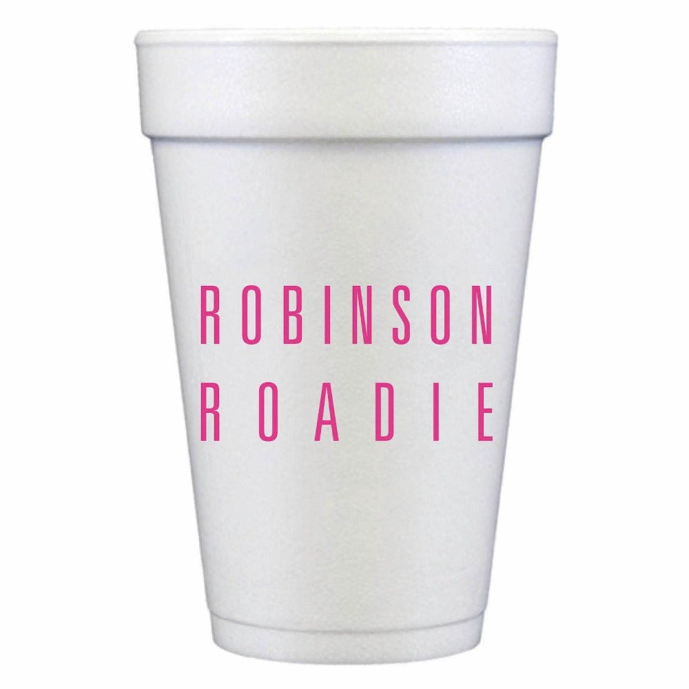 Custom Cups Styrofoam Hostess Gift Shop Personalized Cup Napkin Coaster Small Local Charlotte Realtor Cocktail